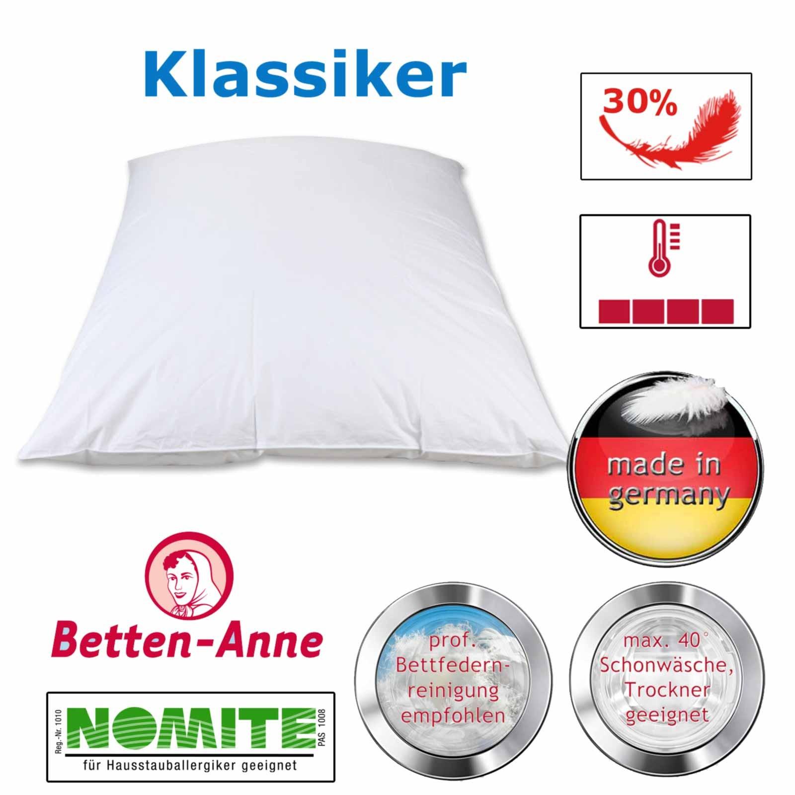 Federbett Betten Anne® - 30% Daunen 70% Federn 135x200