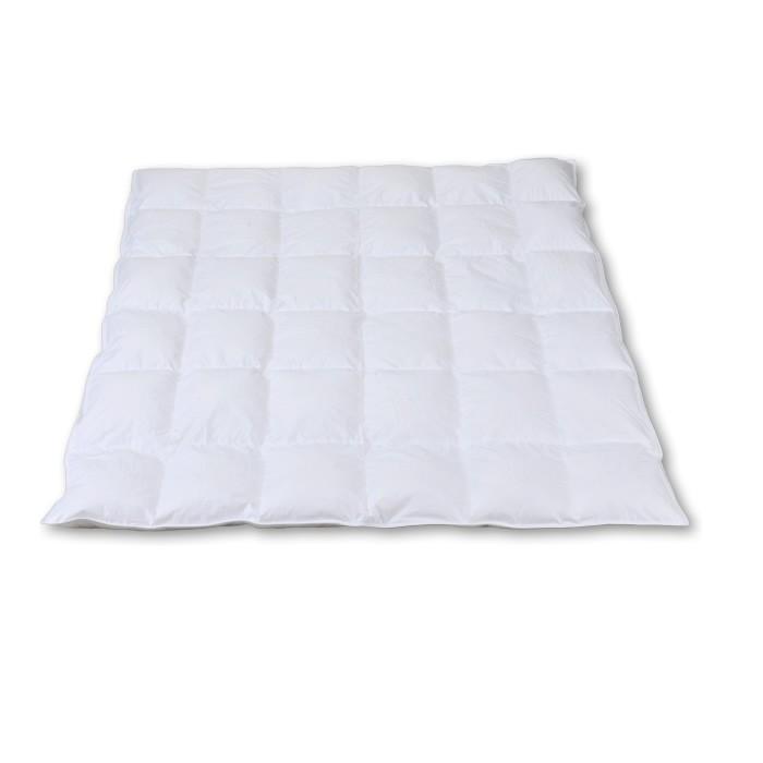 Daunendecke 200 x 200 cm 6 x 6 Kassetten weiß  100 % Daunen 1440 g
