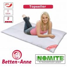 Daunendecke von Betten-Anne gefüllt mit 90% Daunen und 10% Federn