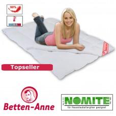 4 Jahreszeiten Bettdecke mit 840g+350g Füllung in weiß oder creme