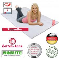 Sommer Bettdecke mit 5x7 Kassetten und 90% Daunen, 10% Gänsefedern